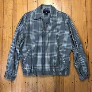 Polo Sport Plaid Lightweight Zip-up Shirt Jacket